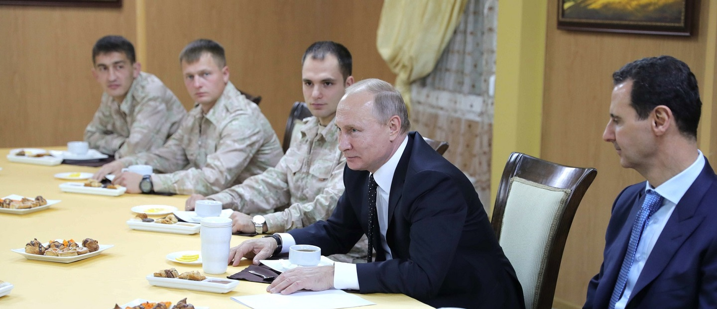 Putin and Assad at one table